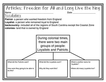 South Carolina Studies Weekly: Week 7 Big Problems in the Colonies