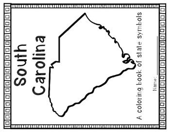 South Carolina Symbols Coloring Book