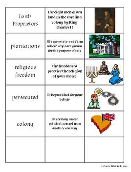 South Carolina - The Colony of South Carolina Assessments and Vocabulary 3-2.4