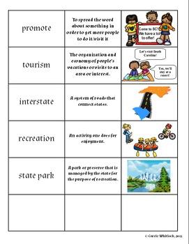 South Carolina - Tourism Assessment, Mini-Project & Vocabulary 3-5.6