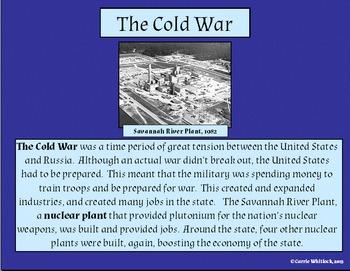 South Carolina - World War 2 & The Cold War Presentation 3-5.4
