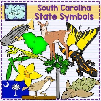 South Carolina state symbols clipart