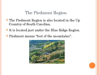 South Carolina's Regions Power Point