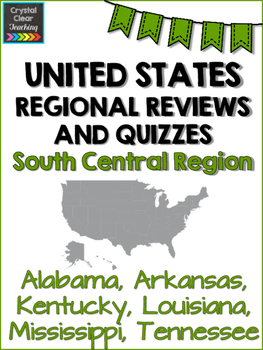 South Central State Region Review Sheets and Quiz