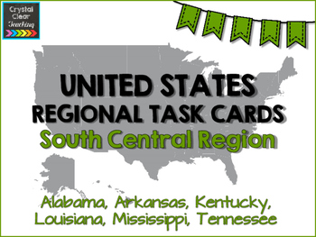 South Central State Region Task Cards
