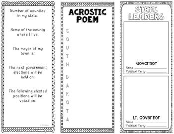South Dakota - State Research Project - Interactive Notebook - Mini Book