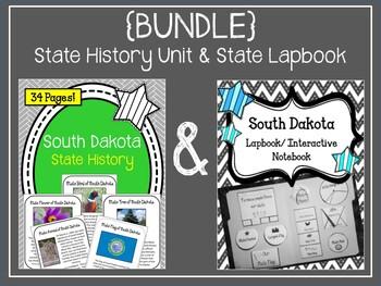 South Dakota {BUNDLE} State History Unit and Lapbook Set. US History