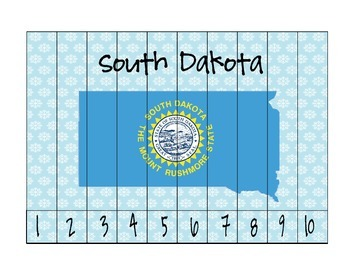 South Dakota Counting Puzzle Maps