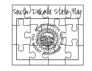 South Dakota Flag Puzzle