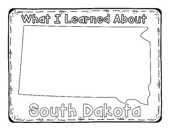 South Dakota Graphic Organizers (Perfect for KWL charts and geography!)