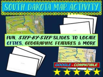 South Dakota Map Activity- fun, engaging, follow-along 20-