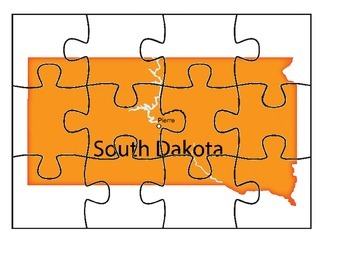 South Dakota Map Puzzle