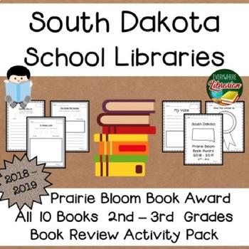 South Dakota Prairie Bloom Book Award 2018 - 2019  Book Review Activity Pack