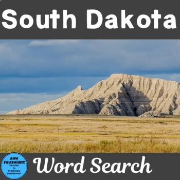 South Dakota Word Search