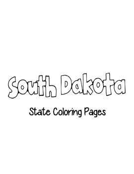 South Dakota State Coloring Pages