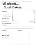 South Dakota State Facts Worksheet: Elementary Version
