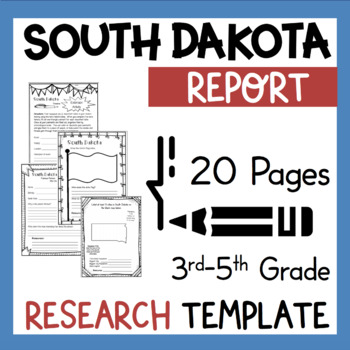 South Dakota State Research Report Project Template Bonus Timeline Craftivity SD