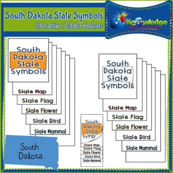 South Dakota State Symbols Interactive Foldable Booklets