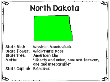 North Dakota Symbols Write The Room