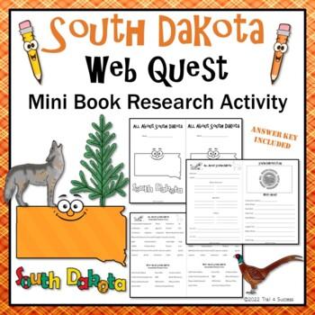 South Dakota Webquest Common Core Research Mini Book