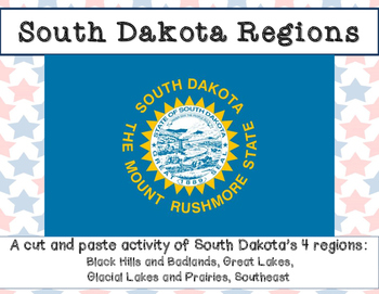 South Dakota regions: A cut and paste activity
