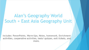 South + East Asia Geography Unit Bundle