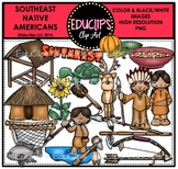 Southeast Native Americans Clip Art Bundle {Educlips Clipart}