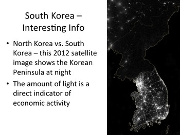 South Korea Geography and History PowerPoint Presentation