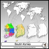 South Korea Clip Art Maps Regional Maps World Maps