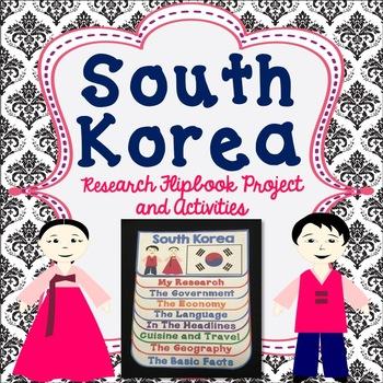 South Korea Flip Book Research Project, Activities, Comic Strip, Map Work