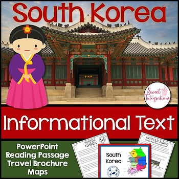 south korea country study informational text powerpoint brochure
