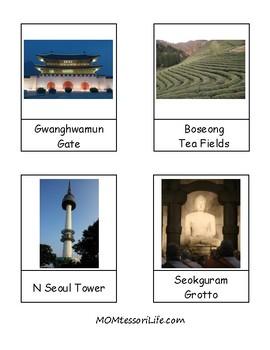 South Korean Landmarks 3-Part Cards