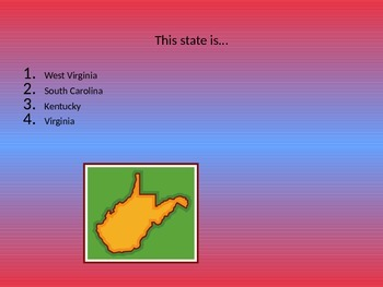 South Region Name That State Game
