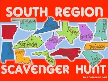 South Region Scavenger Hunt - U.S. Regions