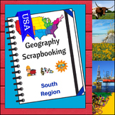 South Region Scrapbooking Pages - United States Geography
