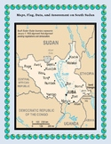South Sudan Geography, Flag, Data, Maps Assessment -Map Skills and Data Analysis