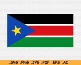 South Sudan National Flag, Sudanese Country Banner Cricut SVG EPS AI PNG JPG PDF