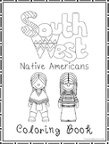 South West Native Americans Coloring Book worksheets.  Pre
