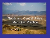 South and Central Africa Map Quiz Practice Power Point
