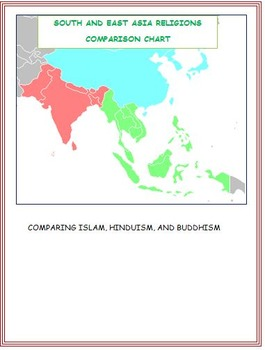 South and East Asia Religions Comparison Chart