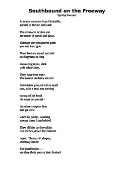 Southbound on a Freeway --  Poem and questions