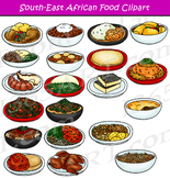 Southeast African Food Clipart Set