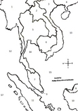 Southeast Asia Interactive Numbered Map, Smartboard, Interactive Map, ETC