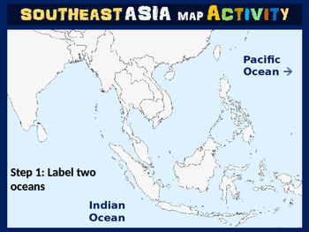 Southeast Asia Map Activity - fun, engaging, follow-along 20-slide PPT