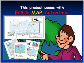 Southeast Asia Map with Activities