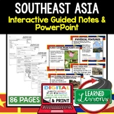 Southeast Asia Notes and PowerPoints Geography Print, Digi