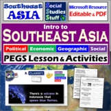 Southeast Asia - P.E.G.S. ~ Practice Lesson & Student Worksheet ~