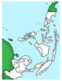 Southeast Asia Printable Map by Kathy Troxel from Geography Songs