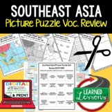 Southeast Asia Picture Puzzle, Test Prep, Unit Review, Study Guide