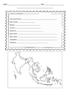 Southeast Asian Postcard Template